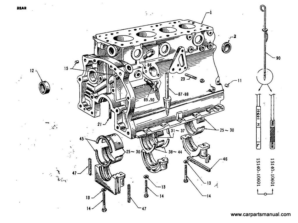Datsun Bluebird (411) Cylinder Block(1.3L)
