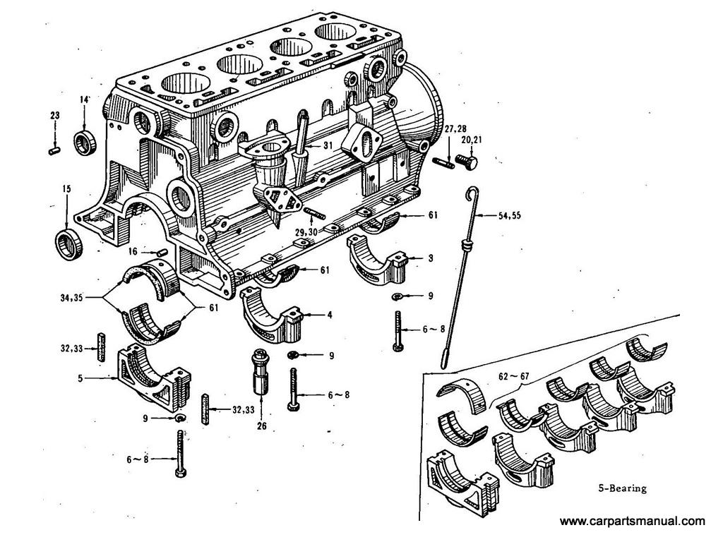 Datsun Bluebird (411) Cylinder Block(1.6L)