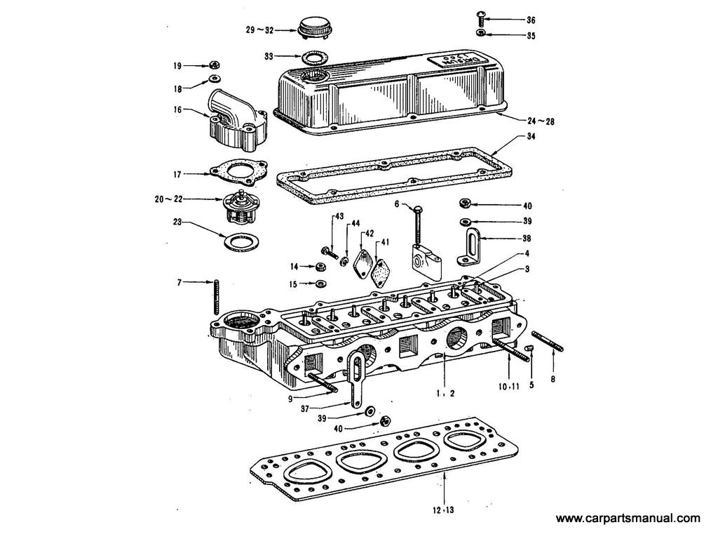 Datsun Bluebird (411) Cylinder Head (1.3L)