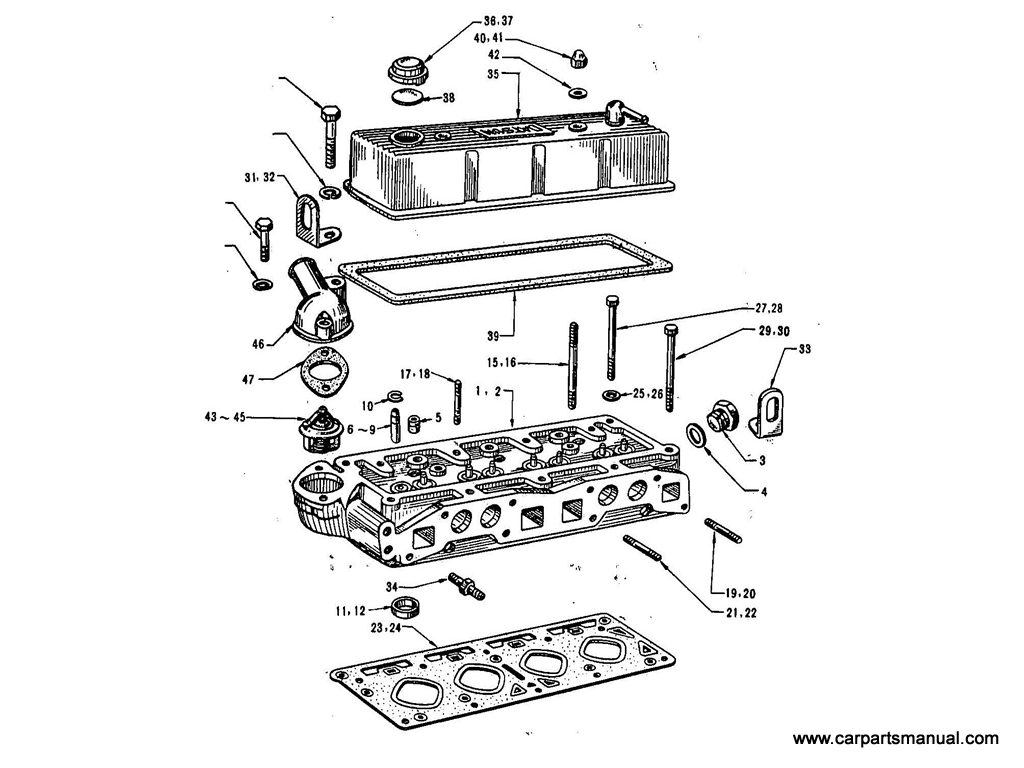 Datsun Bluebird (411) Cylinder Head (1.6L)