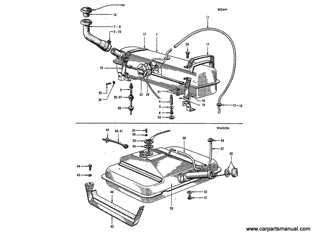 Datsun Bluebird (411) Fuel Tank