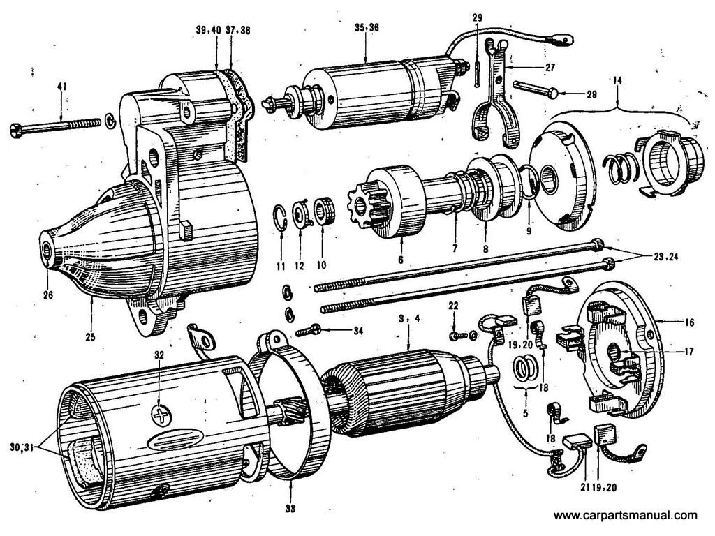 Datsun Bluebird (411) Starter Motor (Hitachi)