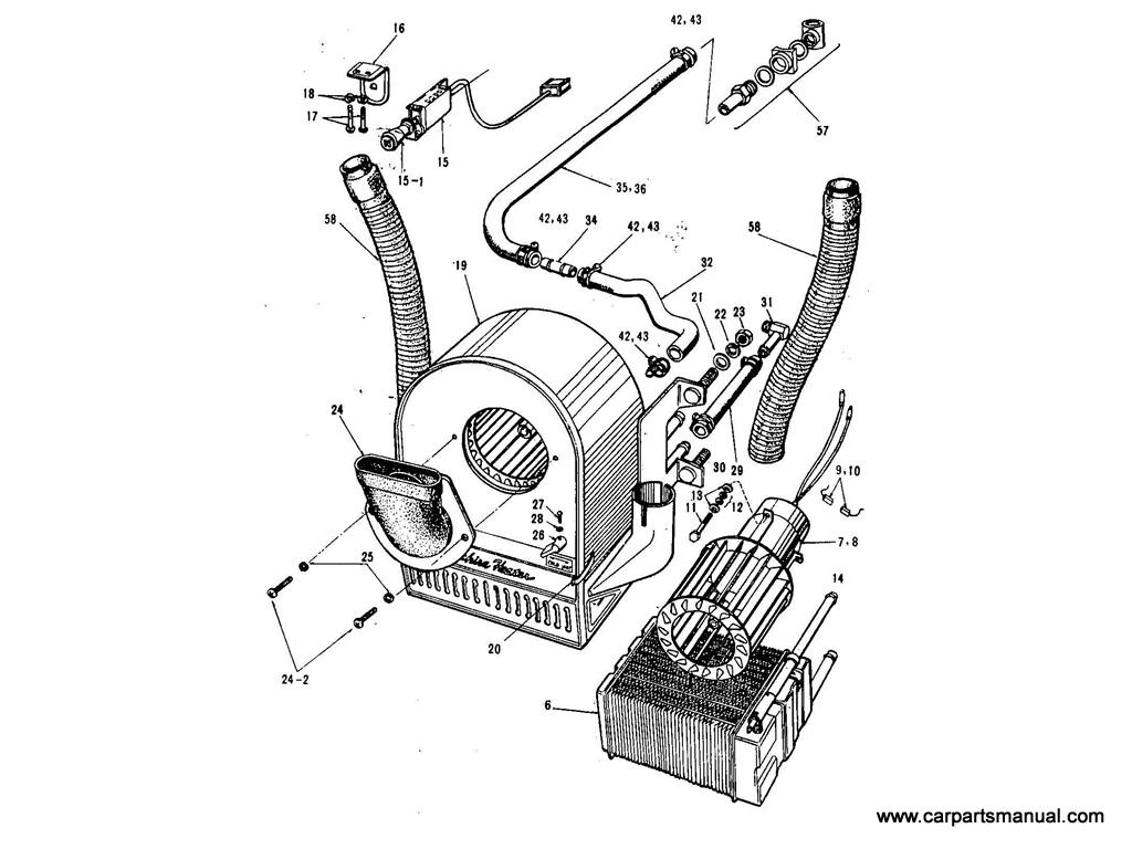 Datsun Bluebird (411) Room Heater