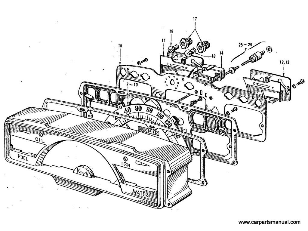 Datsun Bluebird (411) Instrument Meter