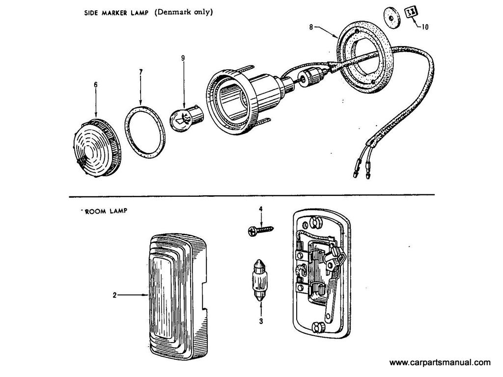 Datsun Bluebird (411) Side Marker & Room Lamp
