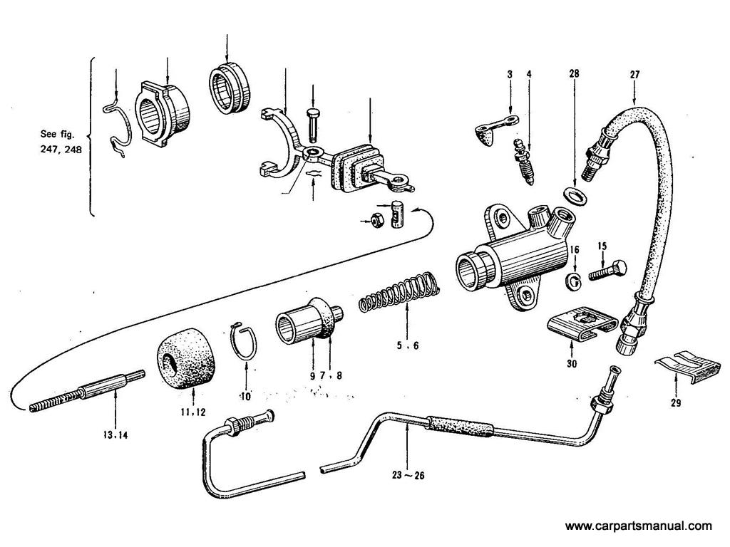 Datsun Bluebird (411) Clutch Operating Cylinder