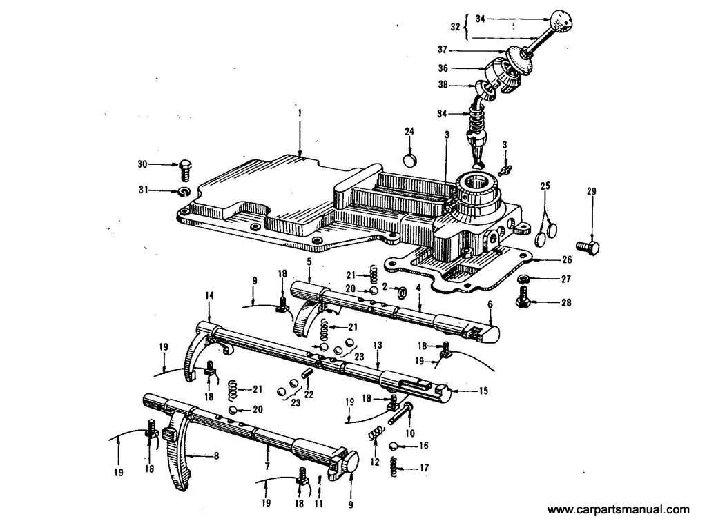 Datsun Bluebird (411) Transmission Forks & Lever (4 Speed)