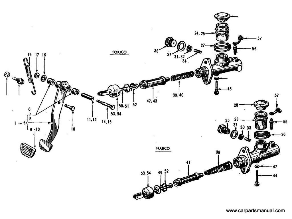 Datsun Bluebird (411) Brake Pedal