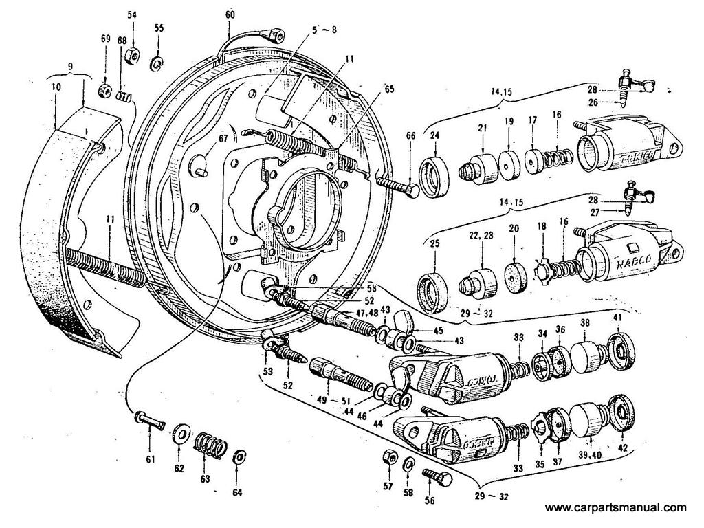 Datsun Bluebird (411) Front Brake