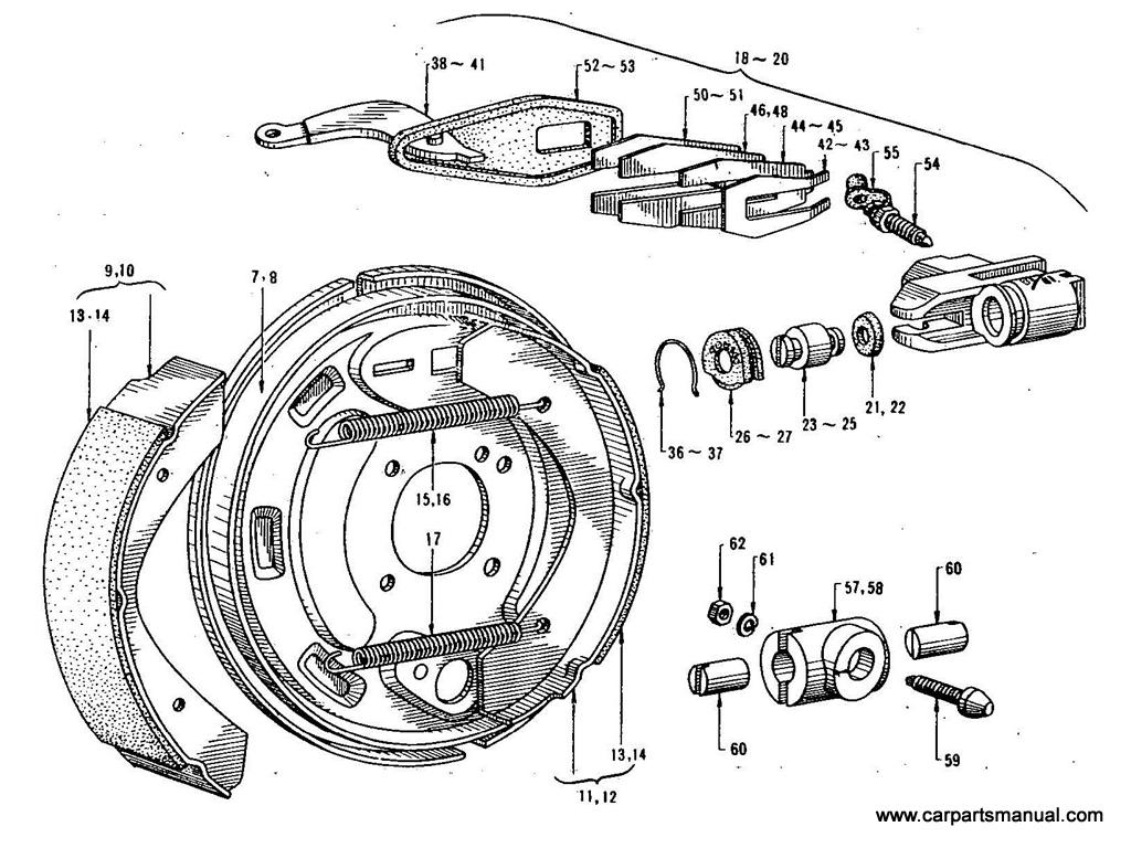 Datsun Bluebird (411) Rear Brake