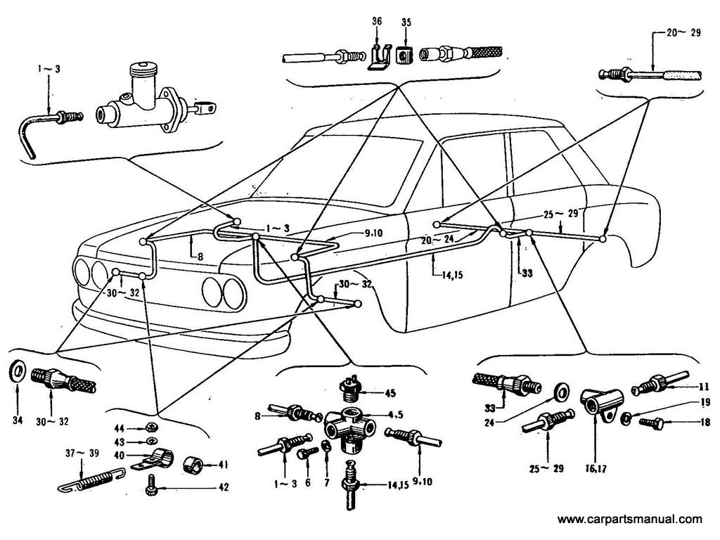 Datsun Bluebird (411) Brake Piping