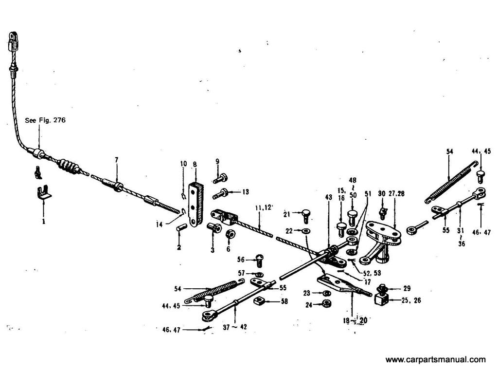 Datsun Bluebird (411) Hand Brake Linkage