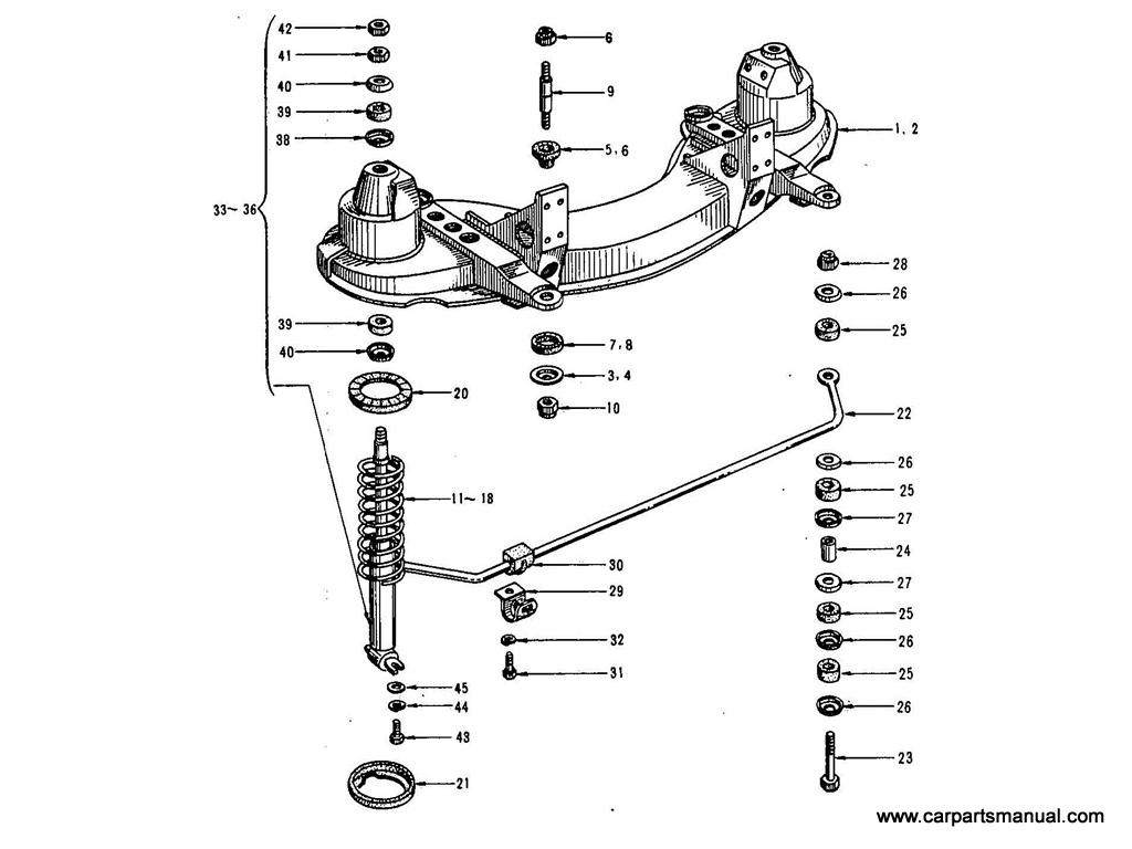 Datsun Bluebird (411) Front Suspension