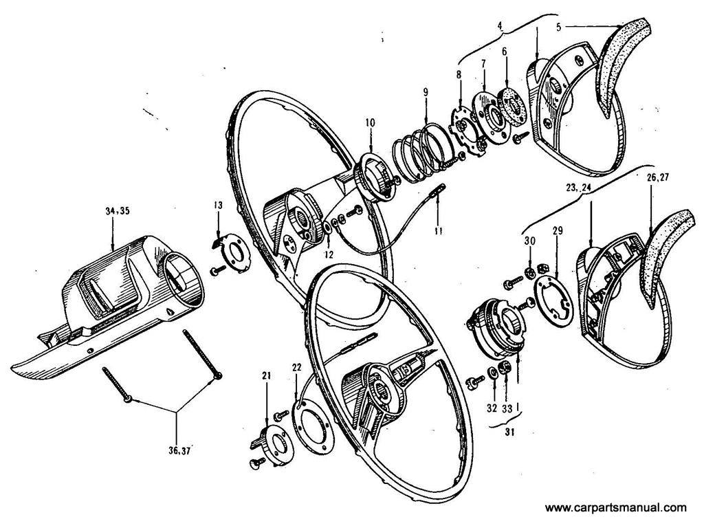 Datsun Bluebird (411) Steering Wheel