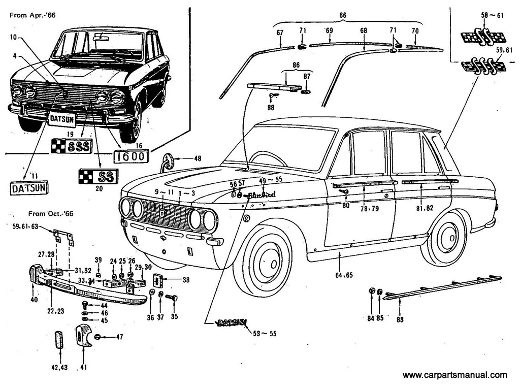 Datsun Bluebird (411) Body