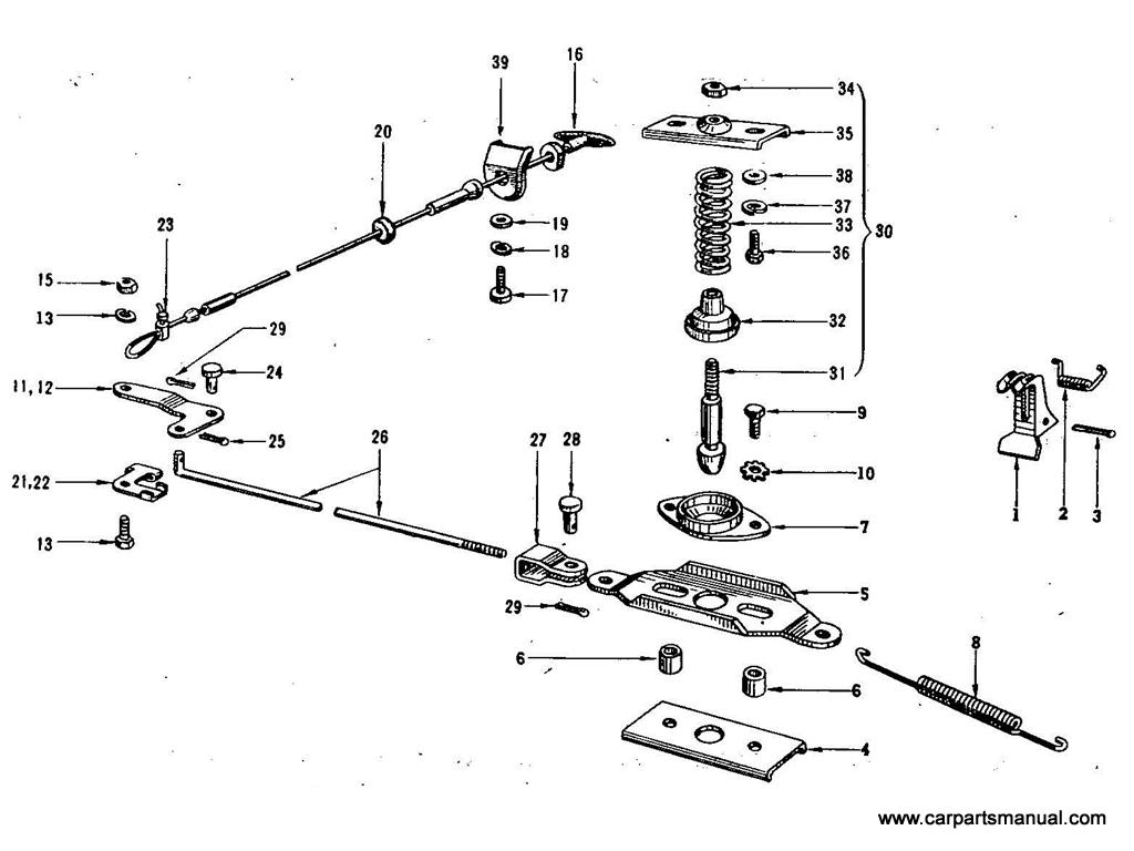 Datsun Bluebird (411) Hood Lock Control
