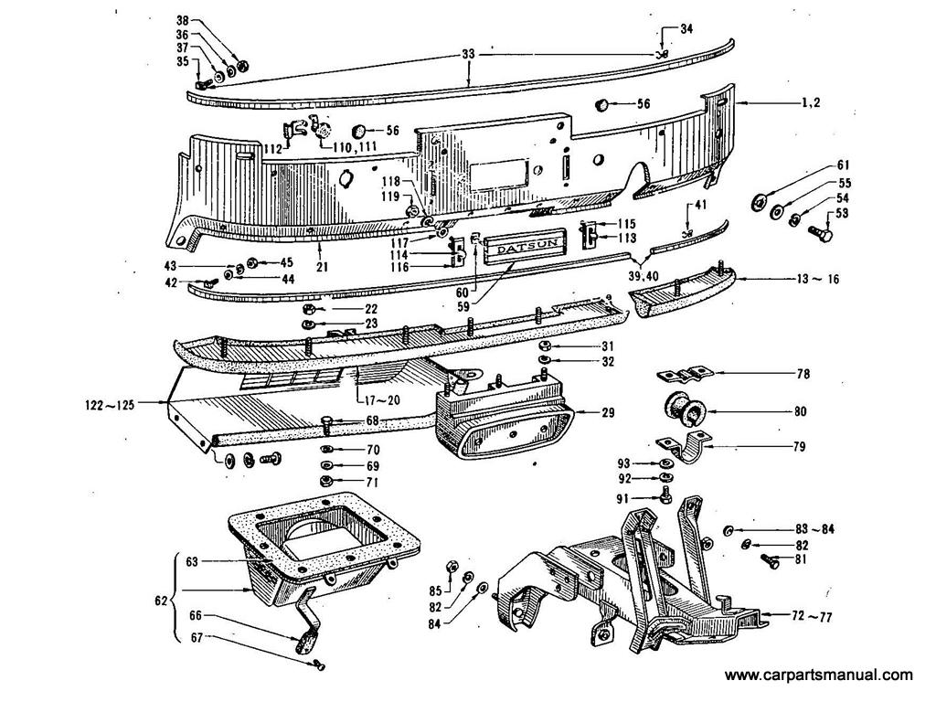 Datsun Bluebird (411) Instrument Panel & Fitting