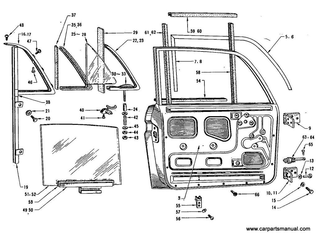 Datsun Bluebird (411) Front Door Panel