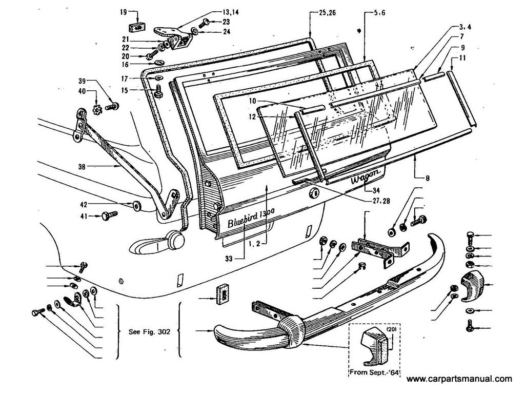 Datsun Bluebird (411) Tail Gate (Wagon)