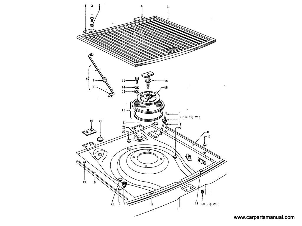 Datsun Bluebird (411) Auxiliary Floor (Wagon)