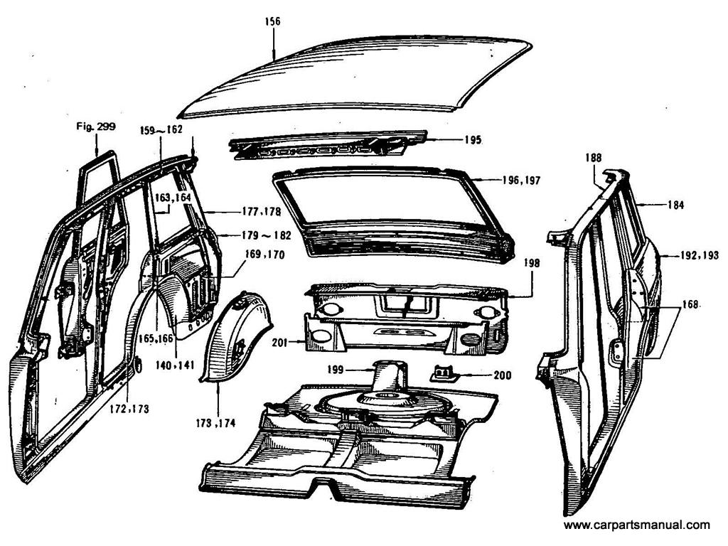 Datsun Bluebird (411) Front Seat