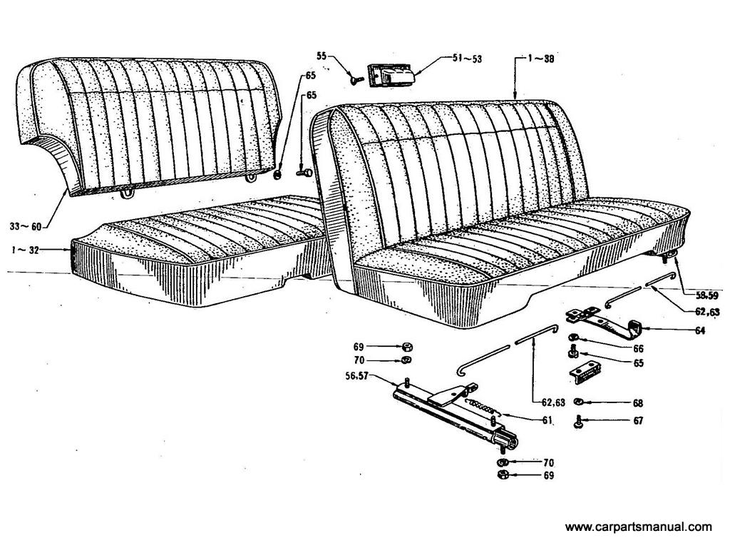Datsun Bluebird (411) Front Seat (Separate)