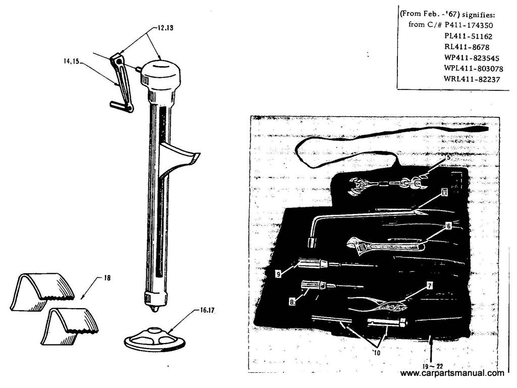 Datsun Bluebird (411) Tool Kits