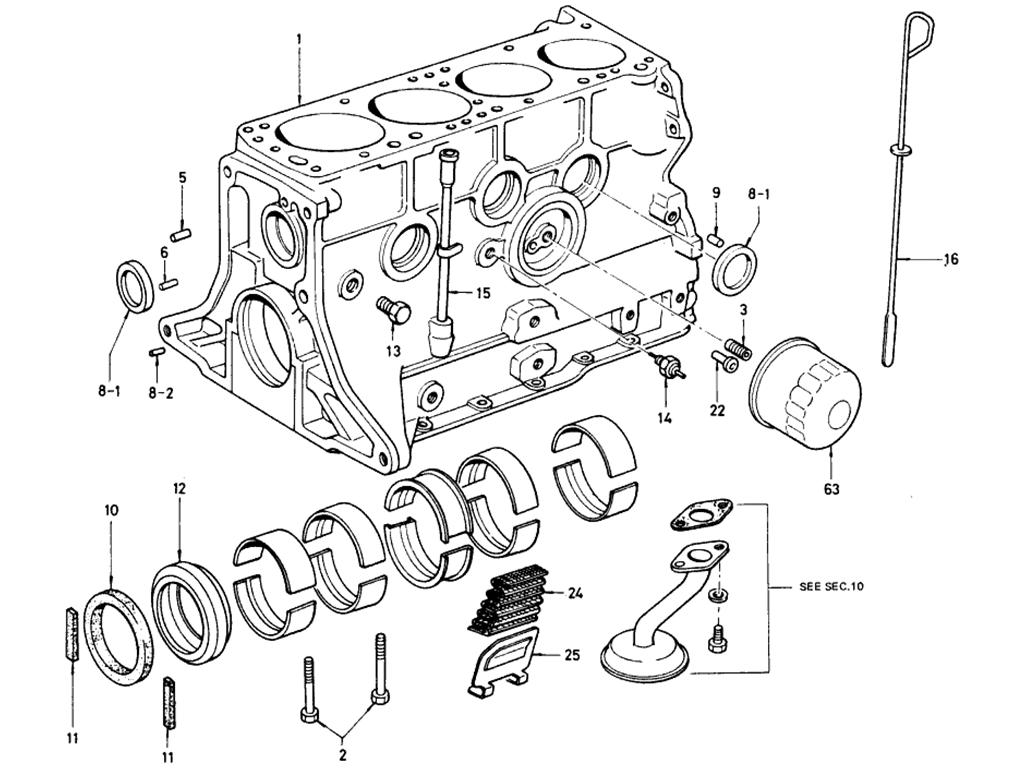 Datsun 510 Cylinder Block