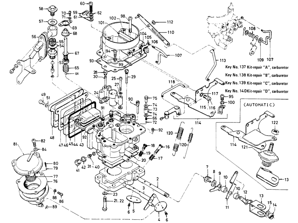 Datsun 510 Carburetor (Hitachi-L16)