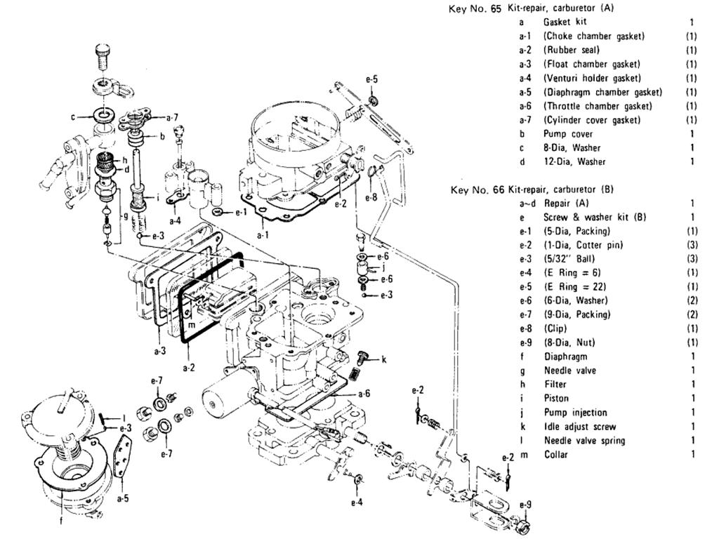 Datsun 510 Carburetor (Hitachi-Daf 328-8A) (L16 Auto