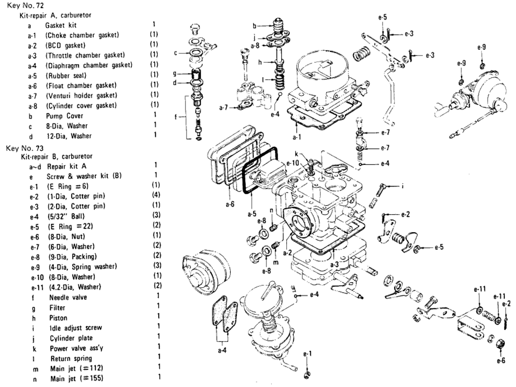 Datsun 510 Carburetor (Hitachi) (L16 Auto) (From Jun.-'71