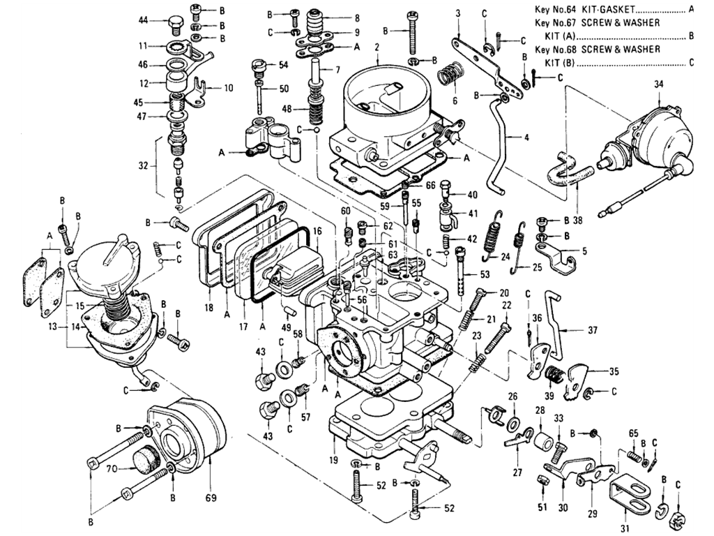 Datsun 510 Carburetor (Hitachi) (L16 Manual) (From Dec