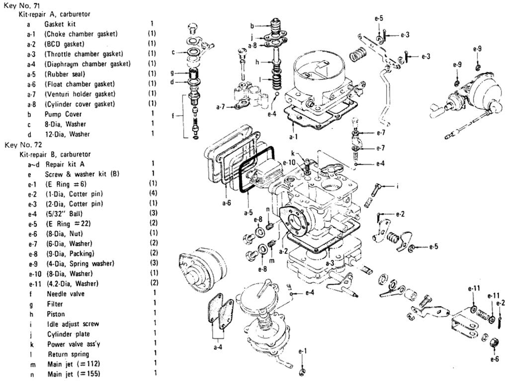 Datsun 510 Carburetor (Hitachi) (L16 Manual) (From Dec