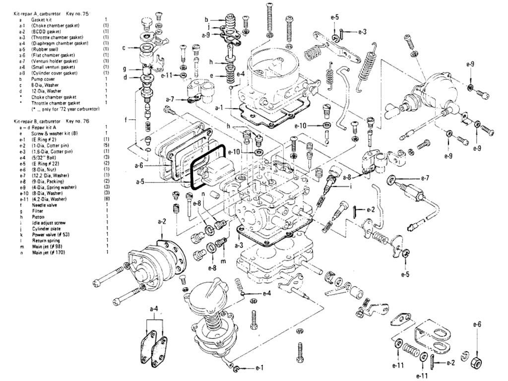Datsun 510 Carburetor (Hitachi) (L16 Auto) (From Jul.-'72)