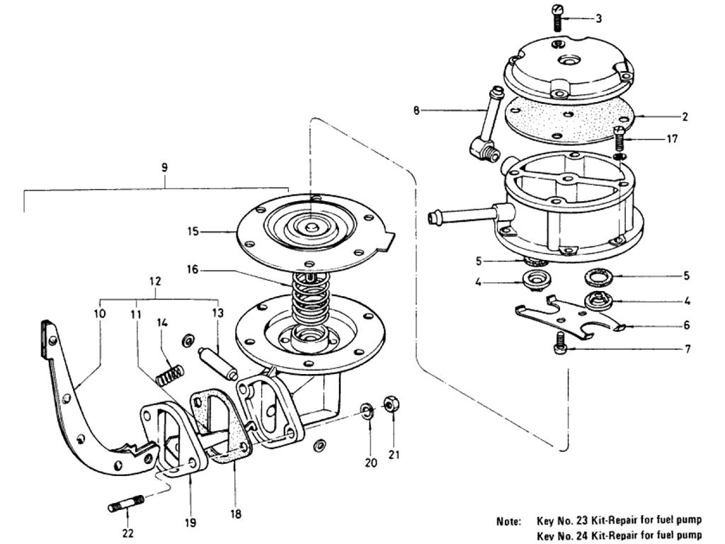 Datsun 510 Fuel Pump (To Jul.-'70)