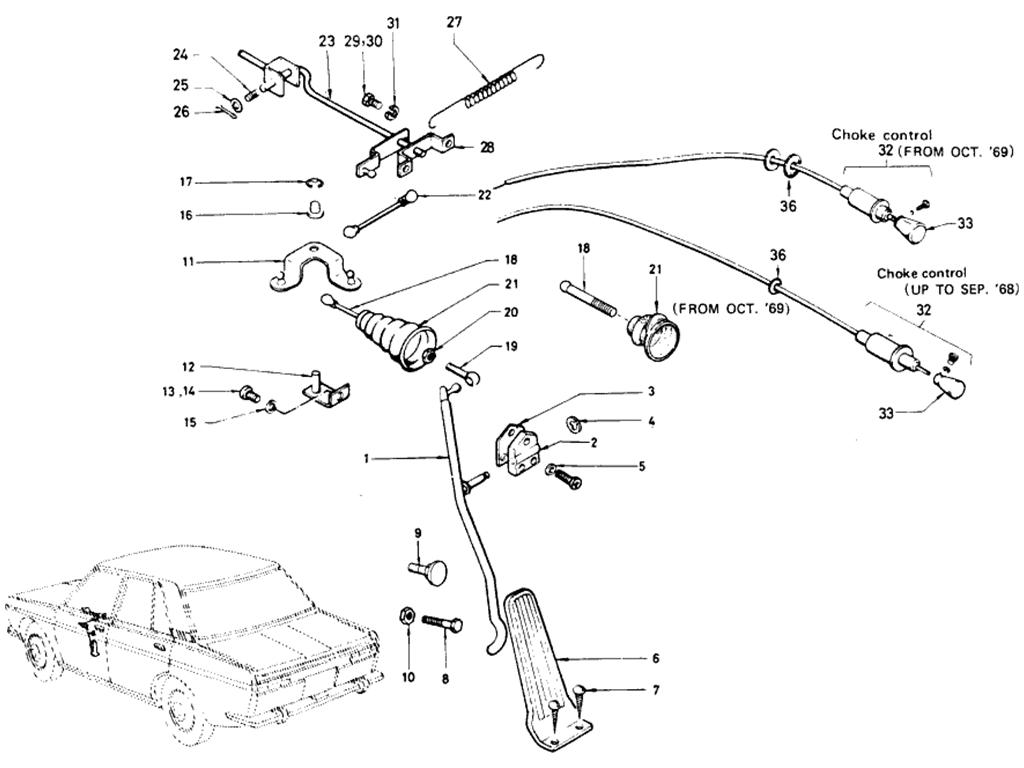Datsun 510 Accelerator