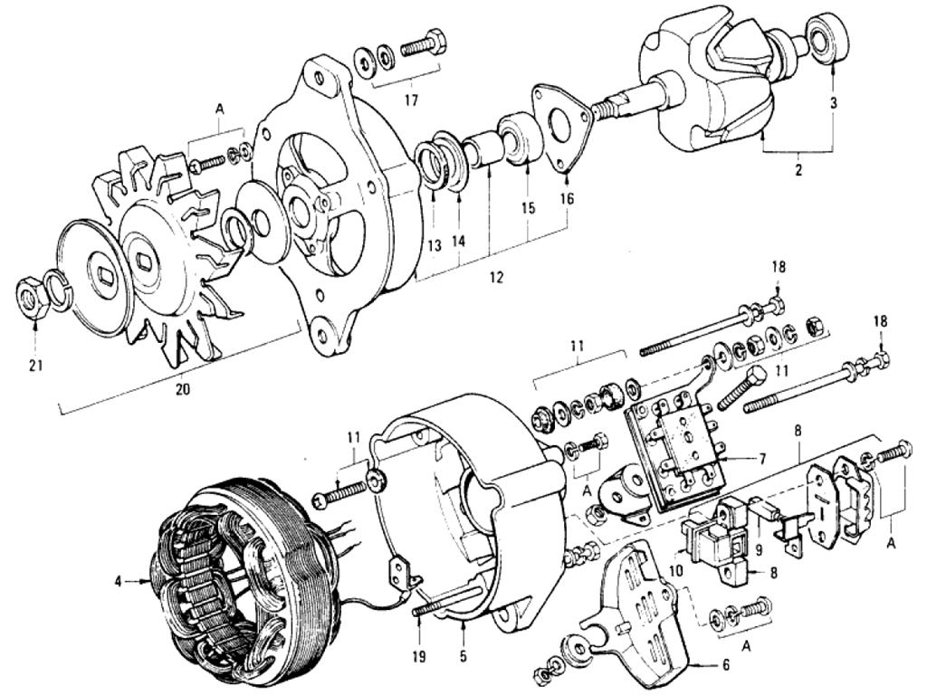 Datsun 510 Alternator (Hitachi) (From Aug.-'69 To May-'71)