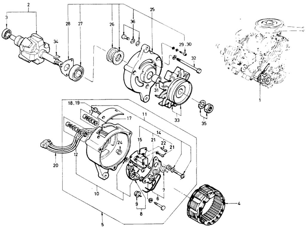 Datsun 510 Alternator (Hitachi) (Exc Ls)