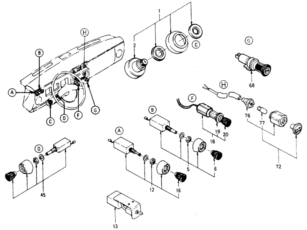 Datsun 510 Switches