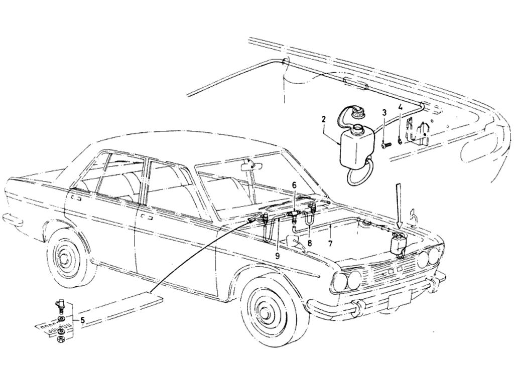 Datsun 510 Windshield Washer (To Sep.-'68)