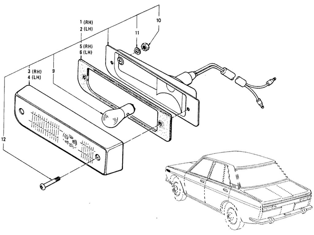 Datsun 510 Parking & Turn Signal Lamp