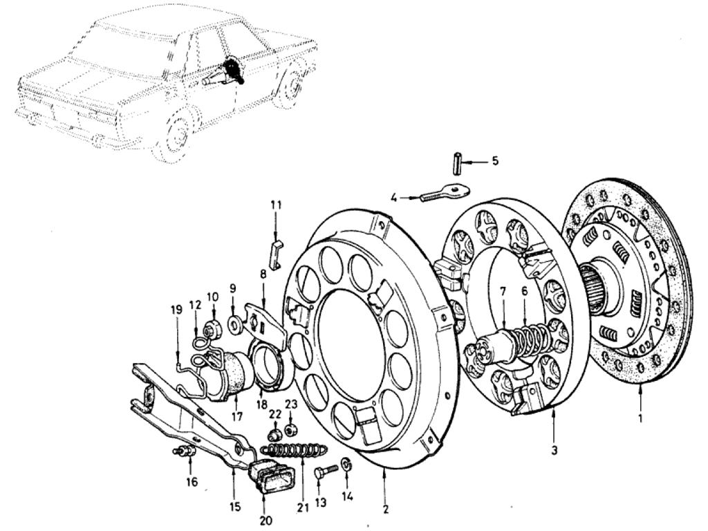 Datsun 510 Clutch (1.3L L13)