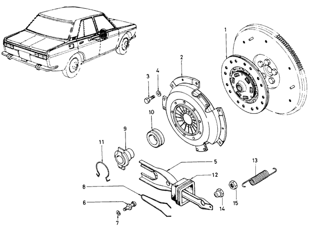 Datsun 510 Clutch (1.6L L16)