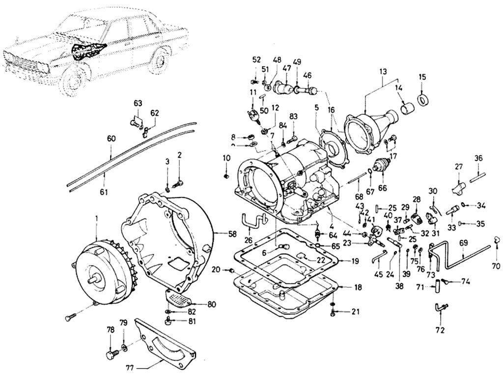 Datsun 510 Transmission Case (Automatic-Muncie)