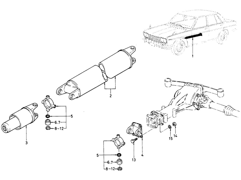 Datsun 510 Propeller Shaft