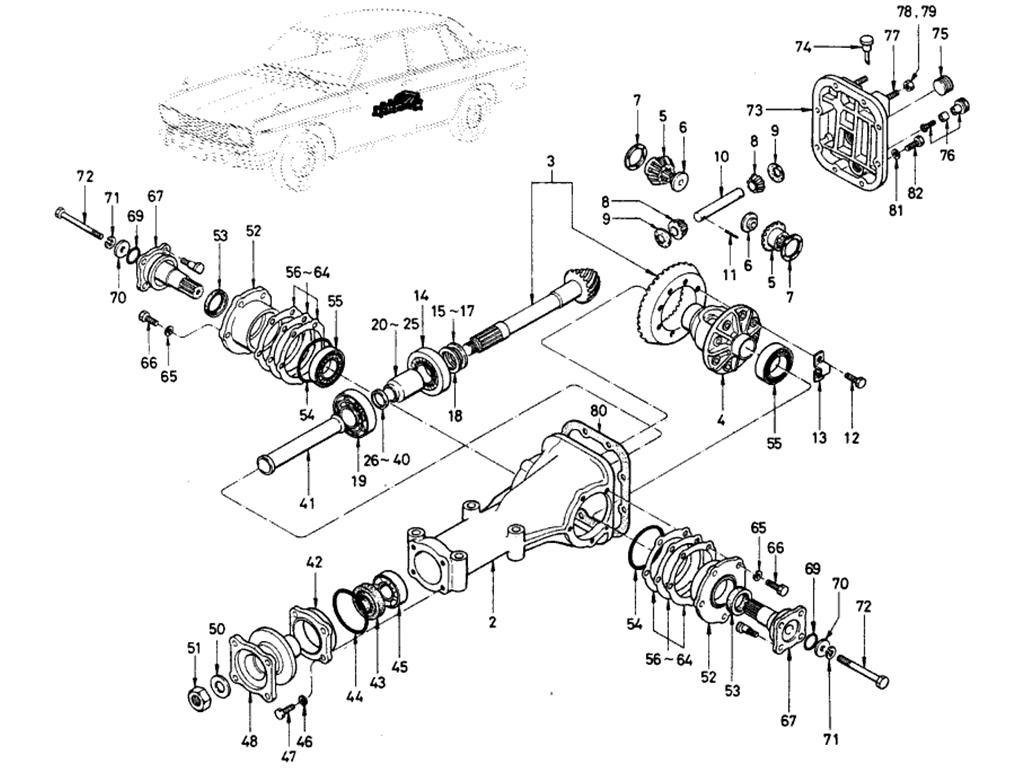 Datsun 510 Gear Carrier (Sedan)