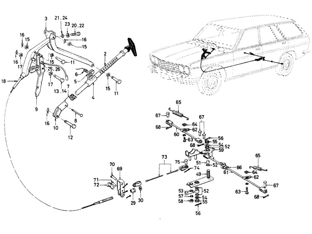Datsun 510 Hand Brake