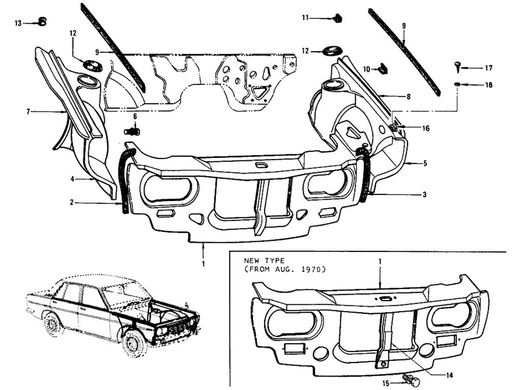Datsun 510 Front Inside (Sedan)
