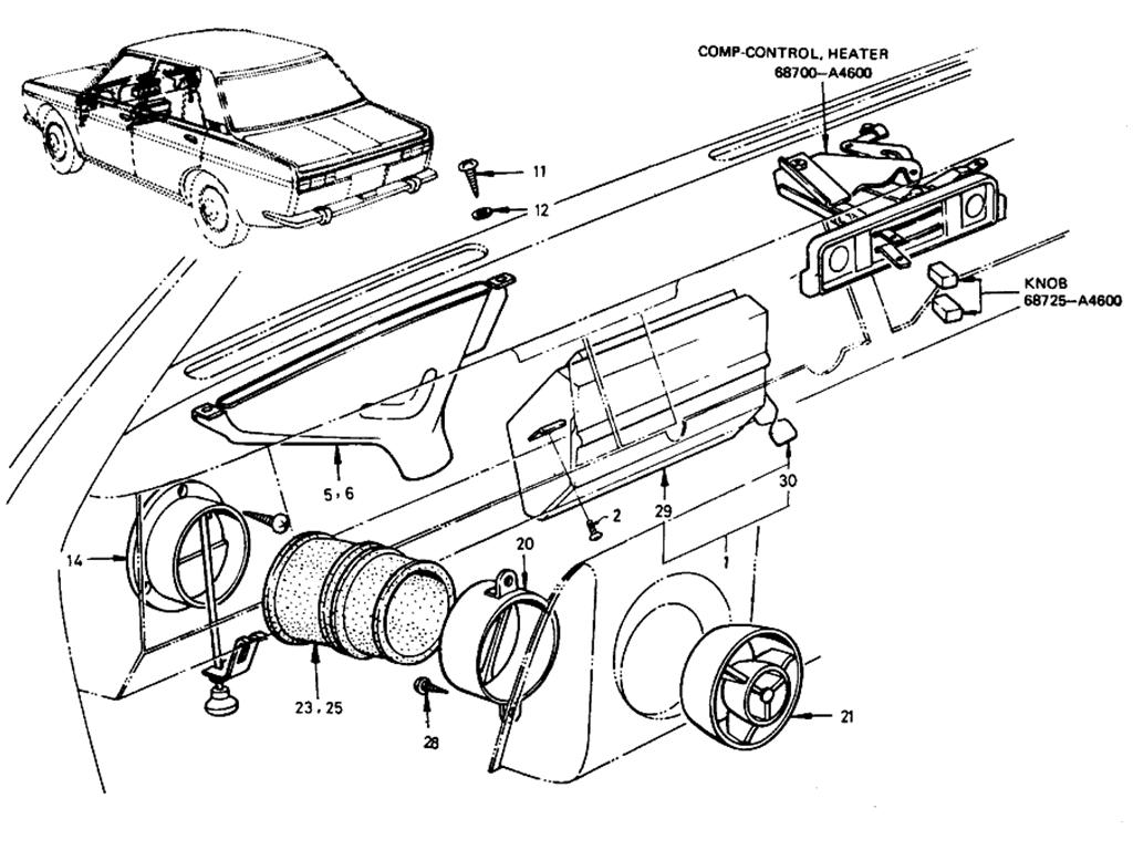 Datsun 510 Ventilator (Sedan)