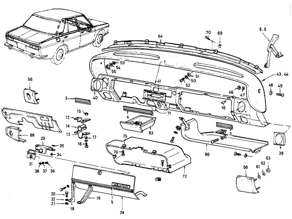 Datsun 510 Instrument Panel (Sedan)